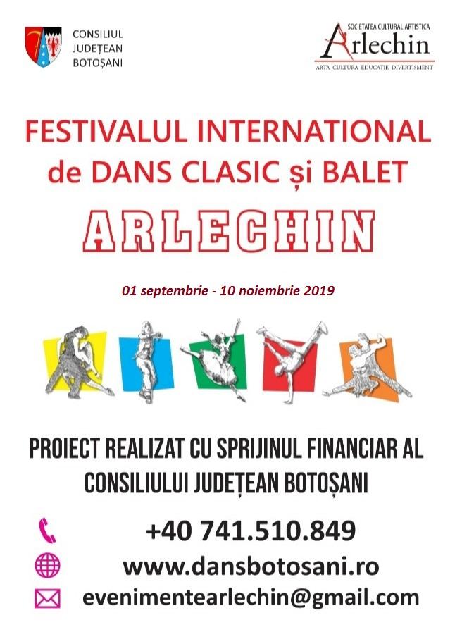 Festivalul international de dans clasic si balet ARLECHIN - anunt de lansare proiect 2019